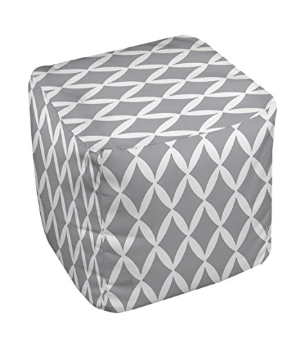 E by design FG-N1A-Classic_Gray-18 Geometric Pouf
