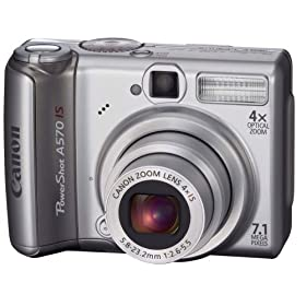 Canon PowerShot A570IS 7.1MP Digital Camera with 4x Optical Image Stabilized Zoom