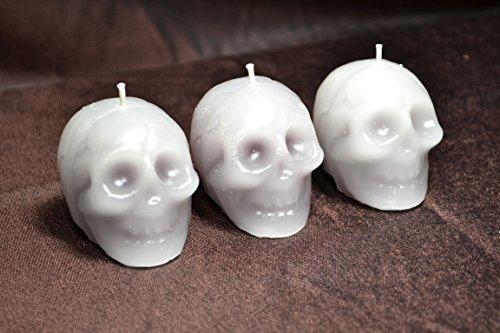Mini Plague Skulls (votive size) - Bleeding Skulls (3 pack)