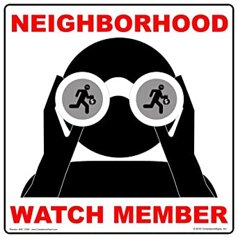 ComplianceSigns Aluminum Neighborhood Watch Sign, 12 x 12