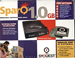 SparQ 1.0 GB External Removable Cartridge Hard Drive - Parallel Port - Windows 3.1, Windows 95, Windows NT 4.0
