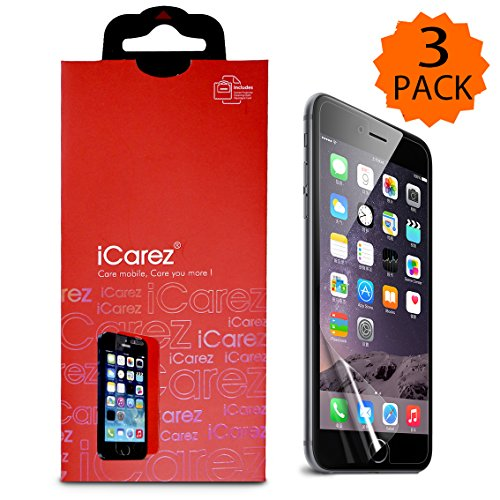 iCarez® [HD Clear] for iPhone 6 Plus 5.5 inch Screen protector Highest Quality Premium High Definition Ultra Clear & Anti Bacterial & Anti-Oil & Anti Scratch & Bubble free & Reduce Fingerprint & No rainbow & washable Screen Protector **PET Film Made in Japan** Easy install & Green healthy Product with Lifetime Replacement Warranty [3-Pack] – Retail Packaging 2014