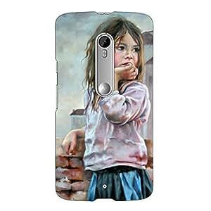 Clapcart Sad Girl Printed Mobile Back Cover Case For Motorola Moto X Play -Multicolor