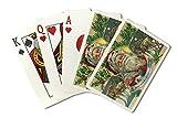 Savannah, Georgia - Holiday Greetings - Santa and Reindeer Scene (Playing Card Deck - 52 Card Poker Size with Jokers)