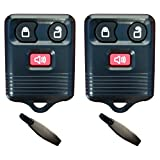 Discount Keyless Pair of Replacement 3 Button Automotive Keyless Entry Remote Control Transmitter Compatible with Ford, Lincoln, Mazda, and Mercury Vehicles
