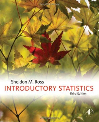 Sheldon M. Ross - Introductory Statistics, Third Edition