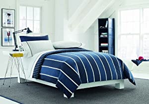 Nautica Knots Bay Comforter Set, Twin/X-Large, Blue-Stripes