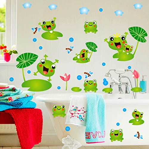 Cortina frog theme vinyl wall stickers multi color