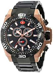 Swiss Precimax Men's SP13186 Quantum Pro Black Dial Two-Tone Stainless-Steel Band Watch