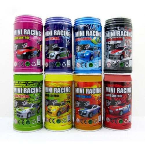 Multicolor Coke Can Mini Speed RC Radio Remote Control Micro Racing Car Toy Gift (Cocacola Can Costume)