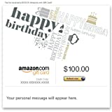 Amazon Gift Card - E-mail - Happy Birthday (Fonts)