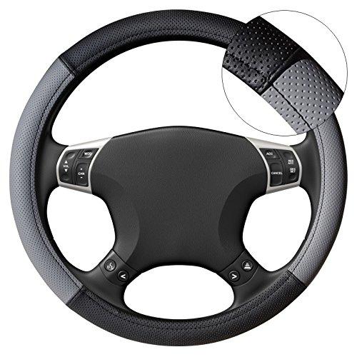 akhan lb25 housse de volant couvre volant noir gris pour. Black Bedroom Furniture Sets. Home Design Ideas