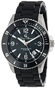 Lucien Piccard Women's LP-93608-11 Mocassino Black Dial Black Silicone Band Watch by Lucien Piccard