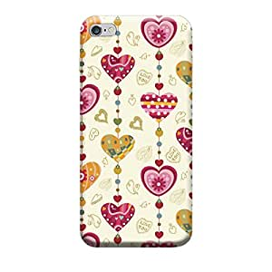 Heart hangging Back Cover Premium Quality Designer Cases For Apple iPhone 6/6s Matte Finish Hard Case Mobile Back Cover With Full Protection