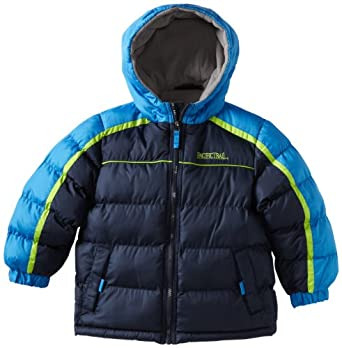 Pacific Trail Little Boys' Heavy Weight Puffer Jacket, Navy, 7