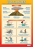 Volcanoes Geography Educational Wall ChartPoster in laminated paper A1 850mm x 594mm