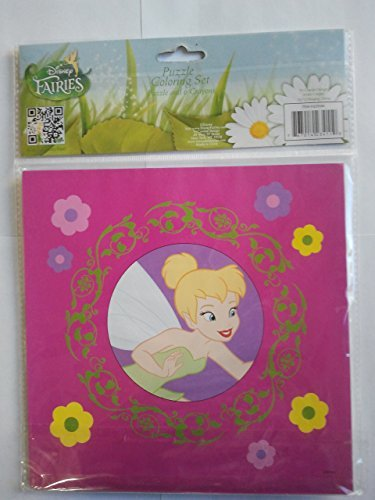 Disney Fairies Puzzle Coloring Set with 6 Crayons - 1
