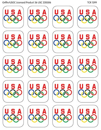 Olympic Stickers -- Case of 14