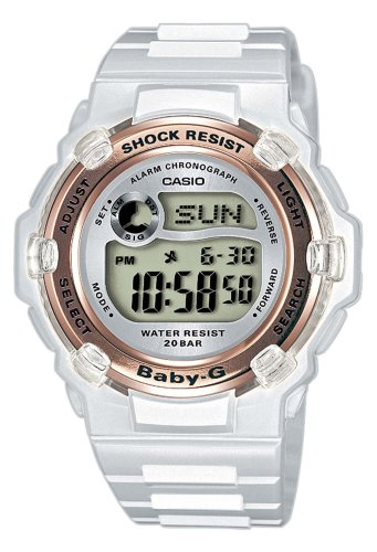 Casio BABY-G Watch BG-3000-7AER Ladies Digital Watch with Resin Strap
