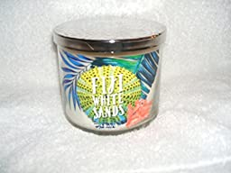 BATH AND BODY WORKS FIJI WHITE SANDS SCENTED CANDLE 3 WICK 14.5 OZ