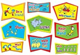 Eureka Dr. Seuss Classroom Rules Bulletin Board Sets, 4 Panels 17 x 24 Each
