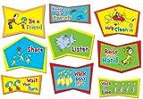 Eureka Dr. Seuss Classroom Rules Bulletin Board Sets, 4 Panels 17 x 24 Each