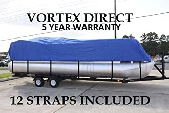 BRAND NEW BLUE 2639 VORTEX ULTRA 3 PONTOONDECK BOAT COVE RHAS ELASTIC AND STRAPS FITS 24391quot TO 2