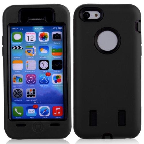General Shop Defender Style Robot Hybrid Case For Iphone 5C (Black)