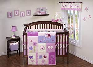 Nojo little bedding little flowers 4 piece crib set baby girl crib