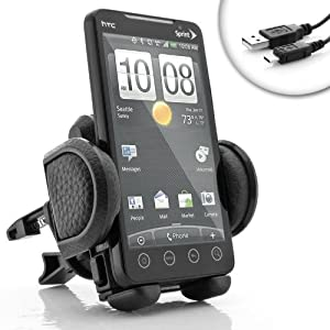 USA GEAR In-Car Auto AirVent Mount for Samsung Galaxy S III , II/Exhilarate/Focus 2/Brightside/Galaxy Ace 2/Captivate Glide/Nexus 4G/Skyrocket/Epic Touch and More,Includes Micro USB from Accessory Genie