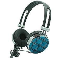 buy Premium Over-Head Stereo Handsfree Headset Headphones W/ Mic For Zte Avid Plus, Zmax 2, Zmax, Axon Pro, Axon Lux, Maven, Grand X Max+, Grand X Max, Blade S6, Speed (Blue Pattern) + Mnd Stylus