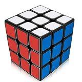Benran ルービックキューブ 3×3×3 スムーズ回転 立体パズル 競技用 ポップ防止 スピードキューブ (黒)