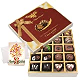Chocholik Luxury Chocolates - Cute Birthday Card With Dark And Milk Chocolate Box With Birthday Card