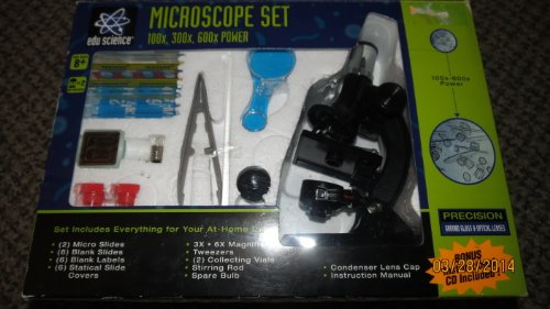Edu Science Microscope Set ~ 100X, 300X, 600X Power
