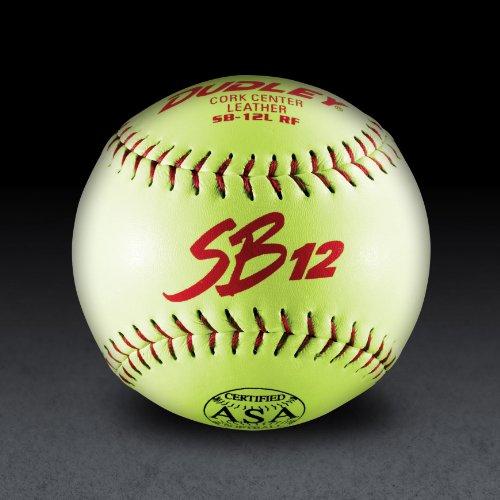 Dudley Asa Sb12l Slow Pitch Softballs 1 Dozen 12 Inch Yellow