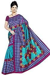 Pawan Tex Bhagalpuri sree for women's (Bhagalpurimix10_rama green)