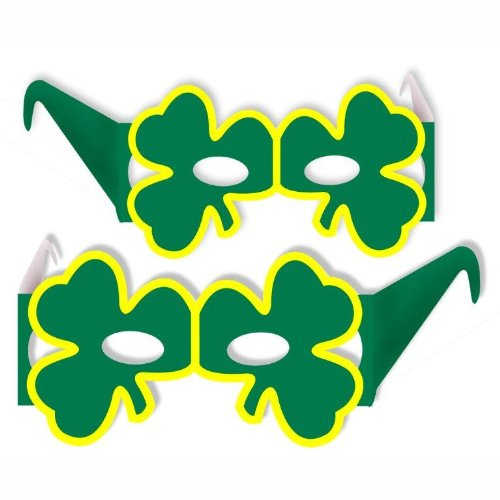 Shamrock Eyeglasses Party Accessory (1 count) - 1
