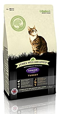 James Wellbeloved Turkey and Rice Senior Dry Cat Food 1.5 Kg