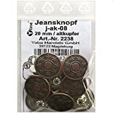 8 Jeans Knöpfe altkupfer 20 mm, Jeansknöpfe Metallknopf,...