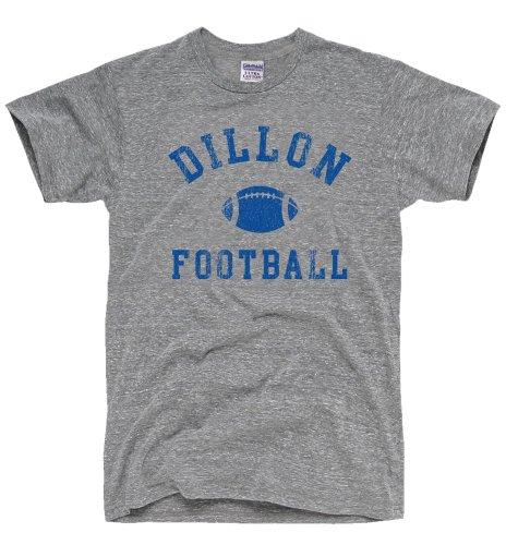 Dirtyragz Men'S Dillon Panthers Football T-Shirt M Heather Grey