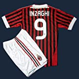 サッカーユニフォーム ■ 【2012モデル】セリエA・ACミラン/インザーギ 背番号9 ■ 大人用上下セット