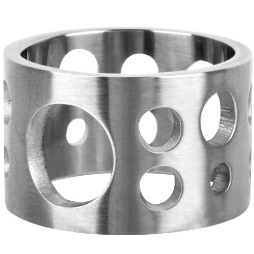 Size 10 - Inox Jewelry 316L Stainless Steel Cut Out Hole Ring