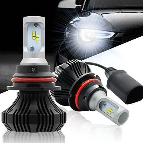 Autofeel 9007(HB5) Led Headlight Bulbs 84W 8000LM 6500K Cool White High/Low Beam with CREE Chips-1 Year Warranty (9007 High Low Led Headlight Bulb compare prices)
