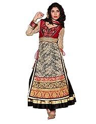 Net Anarkali With Zari Embroidery & Resham Embroidery - R0101002