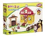 BIG- Mascha Costruzioni Casa di Masha con Un Personaggio Incluso, 95 Pezzi, 800057096