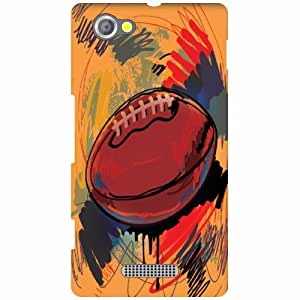 Back Cover For Sony Xperia M (Printed Designer)