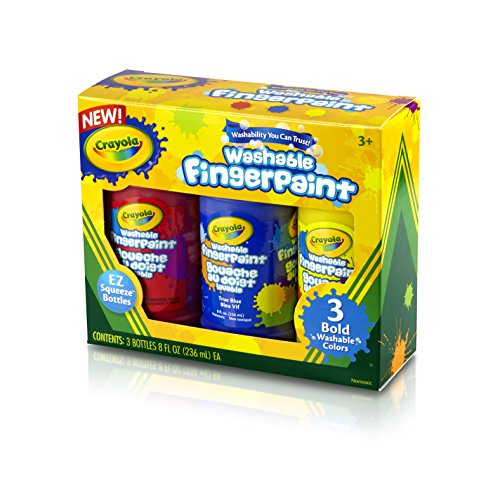 Crayola 8-Ounce Primary Washable Fingerpaint (3 Count) - 1