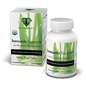 Immune System Booster - USDA Organic Immunity Support + is a Plant Based Superfood Packed Green Supplement with Super Digestive Enzyme blend - Supercharge Your Immune System with All Natural Immune Support.