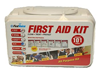 First Voice GFA101 101 Piece First Aid Kit with Plastic Case