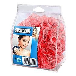 Panache Bath Loofah, Glowing Red